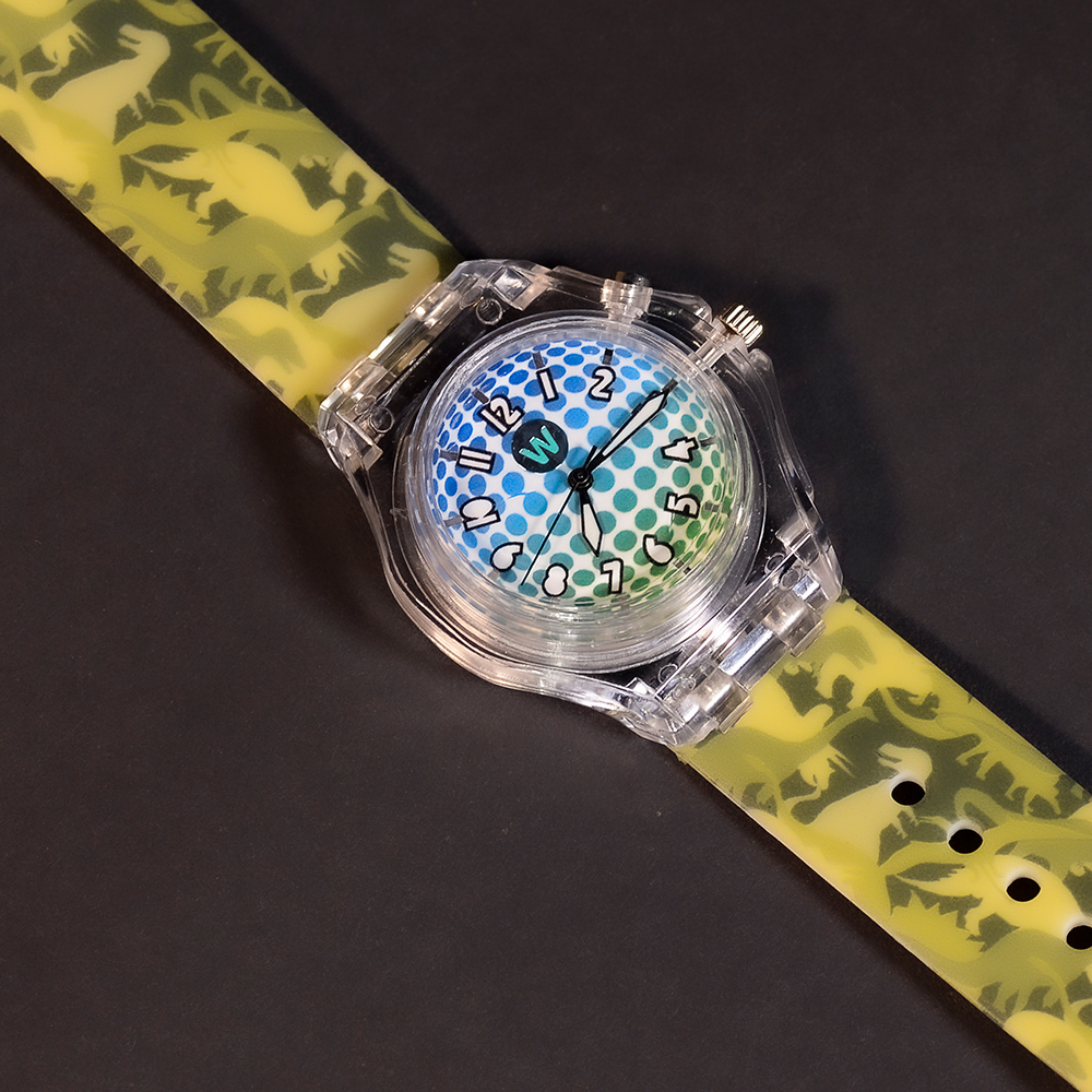 Dino Camo - Watchitude Glow - Led Light-up Watch image number 0