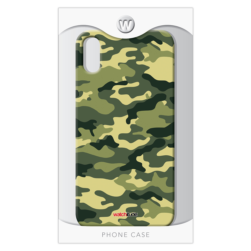 Army Camo X/XS - Watchitude Phone Case - Fits iPhone X/XS