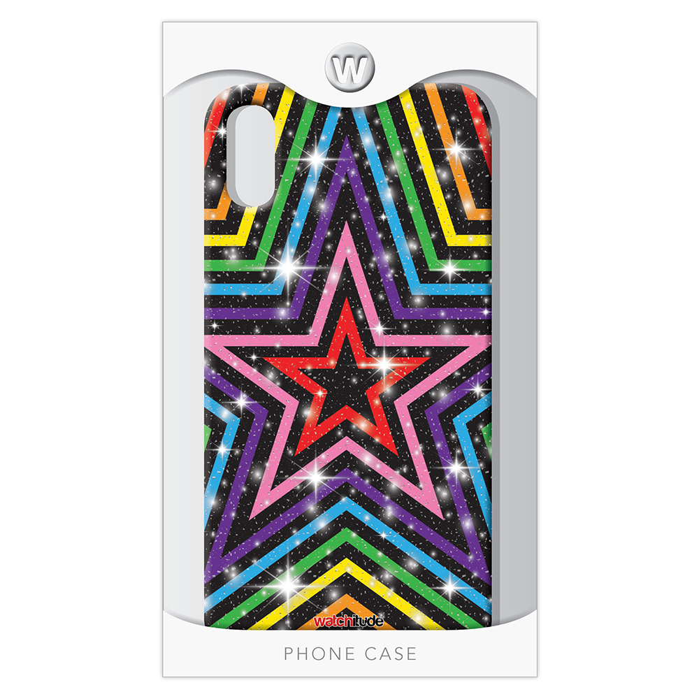 Rainbow Stars XR - Watchitude Phone Case - Fits iPhone XR