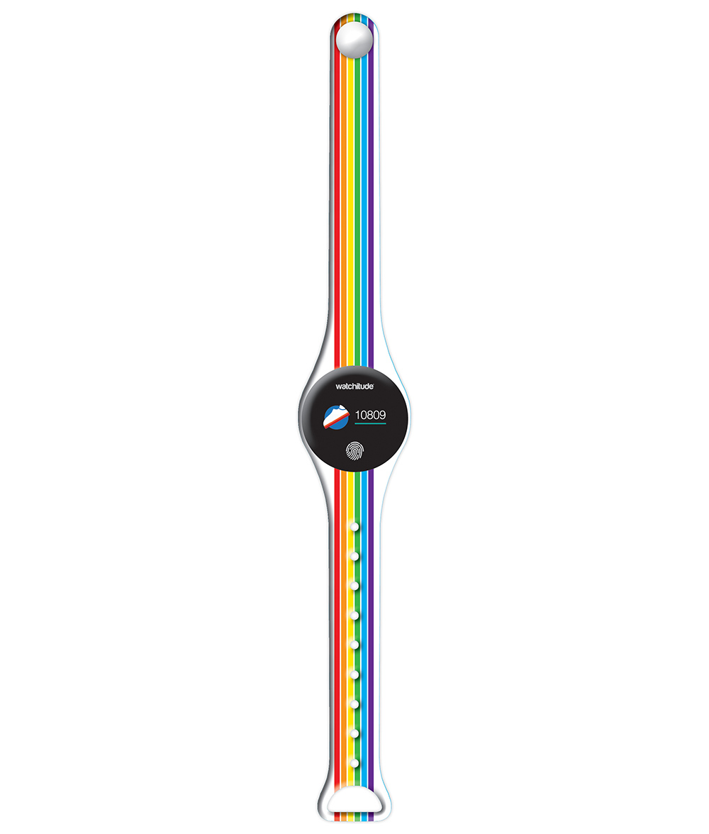 Rainbow Stripes - Watchitude Move 2 | Blip Watch Band (Band Only)