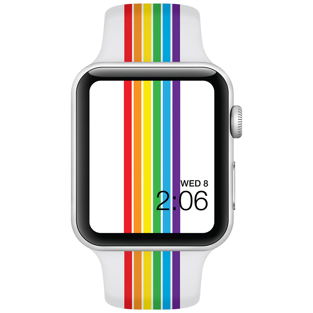 Rainbow Stripes - 42mm - Apple Watch Band - Fits Apple Watch