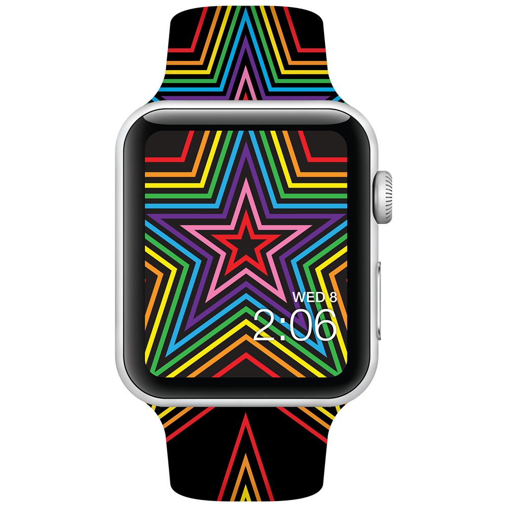 Rainbow Stars - 42mm - Apple Watch Band - Fits Apple Watch