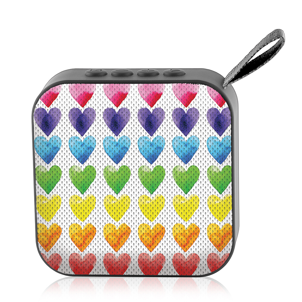 Watercolor Hearts - Watchitude Jamm'd - Wireless Speaker