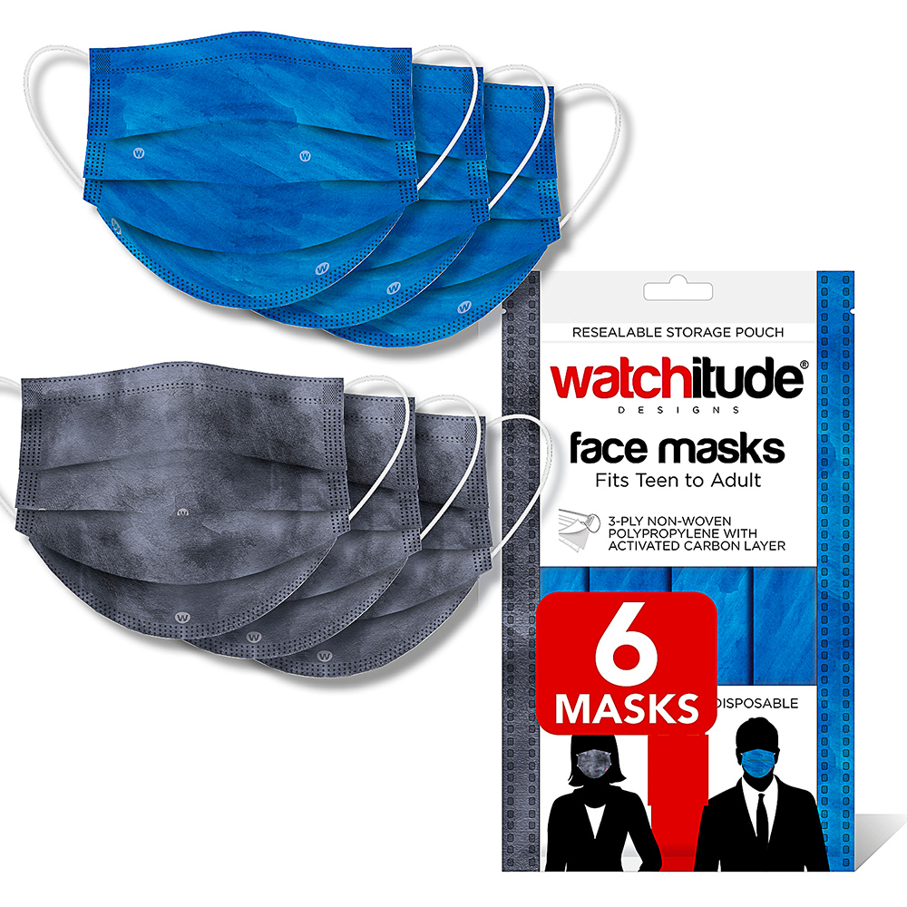 Ocean & Slate - Watchitude Face Masks (6-pack)