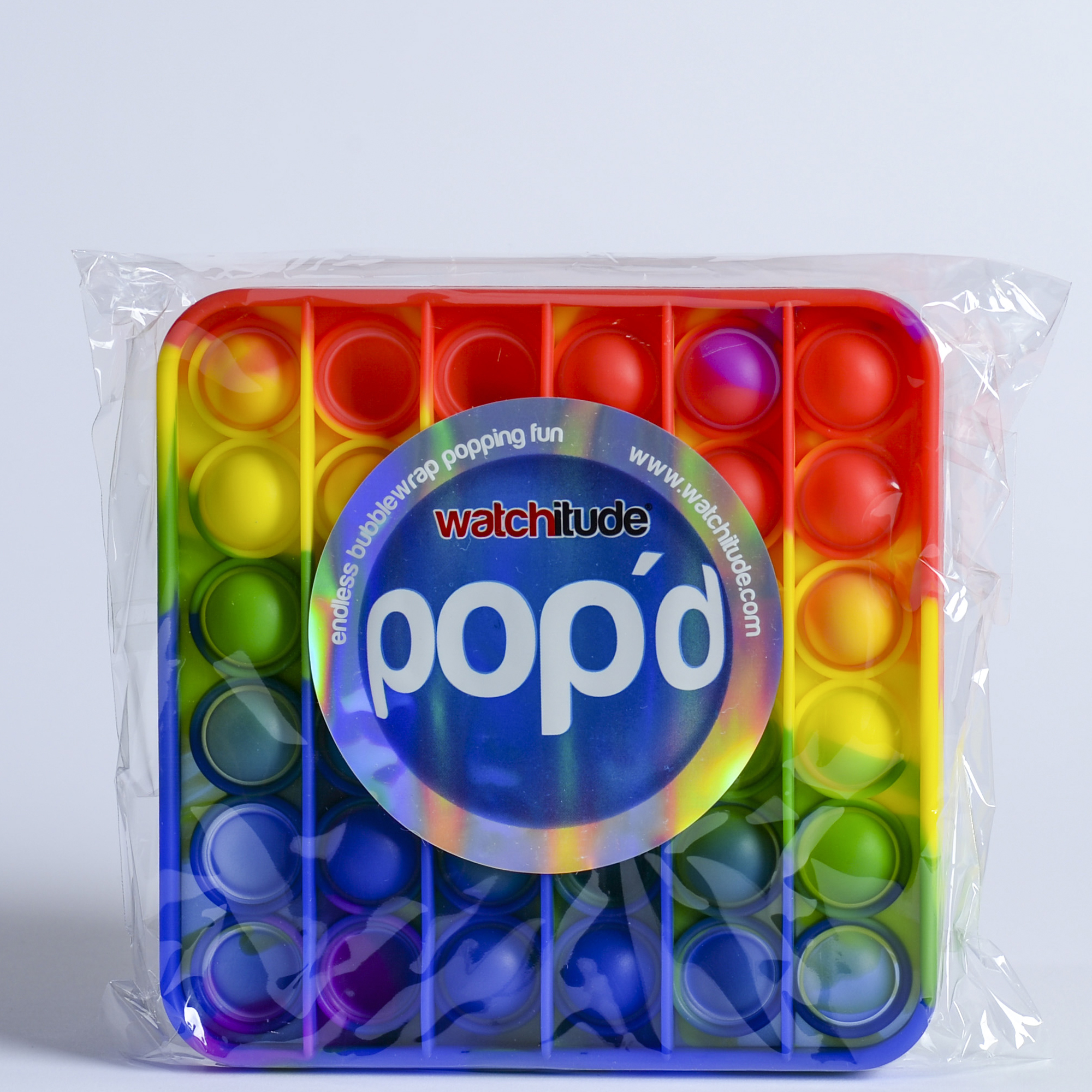 Rainbow Square - POP'd by Watchitude - Bubble Popping Toy