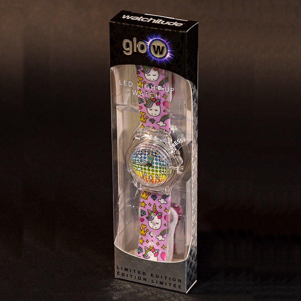 Princess Unicorn - Watchitude Glow - Led Light-up Watch image number 1