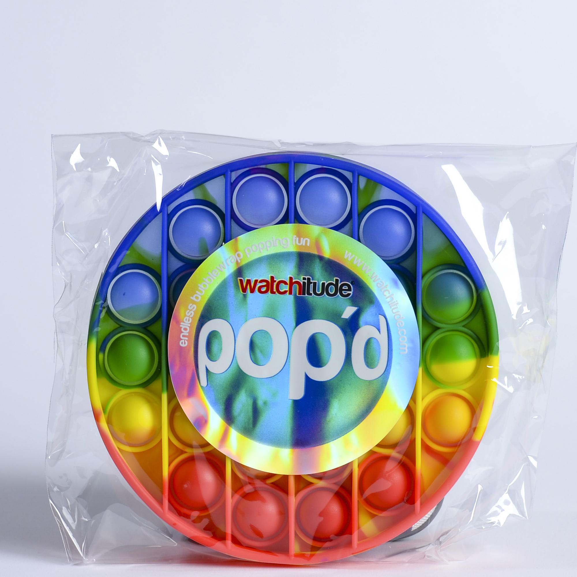 Rainbow Disc - POP'd by Watchitude - Bubble Popping Toy